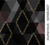 vector abstract regular polygon ... | Shutterstock .eps vector #664681837