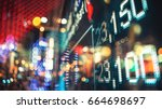 display of stock market quotes... | Shutterstock . vector #664698697