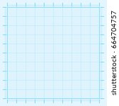blue graph paper coordinate... | Shutterstock .eps vector #664704757