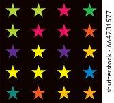vector jolly seamless starry... | Shutterstock .eps vector #664731577