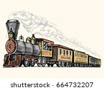 engraved vintage  hand drawn ... | Shutterstock .eps vector #664732207