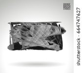 grey brush stroke and texture.... | Shutterstock .eps vector #664747627