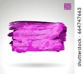 purple brush stroke and texture.... | Shutterstock .eps vector #664747663