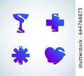 medicine symbols negative space ...   Shutterstock .eps vector #664768873