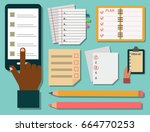 vector notebook agenda business ... | Shutterstock .eps vector #664770253
