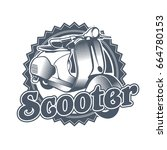 vector vintage label for bike...   Shutterstock .eps vector #664780153