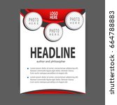 brochure template flyer design... | Shutterstock .eps vector #664788883