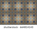 surround abstract blossom.... | Shutterstock . vector #664814143