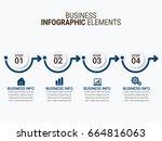 business infographic | Shutterstock .eps vector #664816063