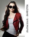 beautiful casual young woman... | Shutterstock . vector #66481906