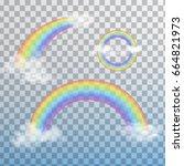 Set Of Transparent Rainbows...