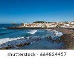 coast sao rogue on sao miguel... | Shutterstock . vector #664824457