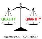 scales measuring quality versus ... | Shutterstock .eps vector #664828687