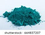 cobalt oxide green pigment on a ... | Shutterstock . vector #664837207