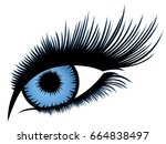 abstract human eye with long... | Shutterstock .eps vector #664838497