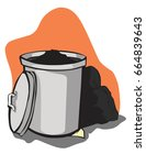 vector illustration. waste.... | Shutterstock .eps vector #664839643