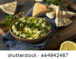 Raw Organic Avocado Hummus Wit...