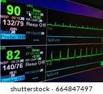 blood pressure vital sign ekg... | Shutterstock . vector #664847497