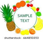 fruit in circle with the text | Shutterstock .eps vector #664850353