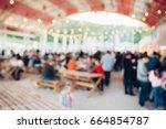 blur people picnic in a public...   Shutterstock . vector #664854787