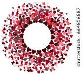 round red frame or border of... | Shutterstock .eps vector #664856887