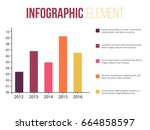 bars or statistic colorful... | Shutterstock .eps vector #664858597