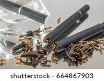 kretek black clove cigarretes... | Shutterstock . vector #664867903