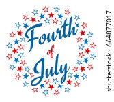 fourth of july typography... | Shutterstock .eps vector #664877017
