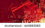 red artistic neo grunge style...   Shutterstock .eps vector #664883083