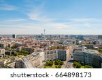 skyline of berlin city with tv... | Shutterstock . vector #664898173