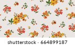 seamless floral pattern in... | Shutterstock .eps vector #664899187