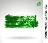 green brush stroke and texture. ... | Shutterstock .eps vector #664900453