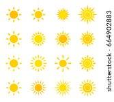 set of sun icon. | Shutterstock .eps vector #664902883