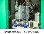 automatic pet  plastic bottle...   Shutterstock . vector #664904503
