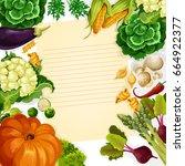 cooking recipe vector template...   Shutterstock .eps vector #664922377