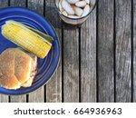 glass of soda with burger and...   Shutterstock . vector #664936963