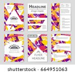 abstract vector layout... | Shutterstock .eps vector #664951063