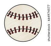 baseball ball equipment...   Shutterstock .eps vector #664974577