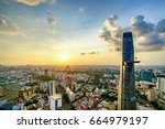 ho chi minh city  aerial view | Shutterstock . vector #664979197