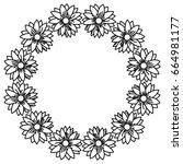 circular frame deoration floral | Shutterstock .eps vector #664981177