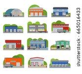 warehouse storehouse depot...   Shutterstock .eps vector #665016433