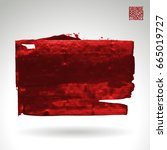 red brush stroke and texture.... | Shutterstock .eps vector #665019727