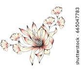 watercolor flower | Shutterstock . vector #665047783