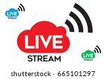 Live Stream Icon  Badge. Onlin...