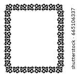 black and white silhouette... | Shutterstock .eps vector #665106337