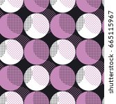 modern geometry seamless... | Shutterstock .eps vector #665115967