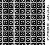 seamless pattern. black and... | Shutterstock . vector #665128153