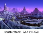 3d created and rendered fantasy ... | Shutterstock . vector #665148463