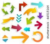 arrow set | Shutterstock .eps vector #66515164