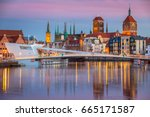 old town in gdansk and catwalk... | Shutterstock . vector #665171587